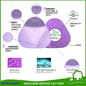 Silicona triángulo lavado eléctrica Cepillo para Limpieza Facial