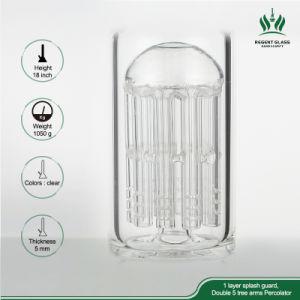 18 Zoll Ccg Glasrohr/gerade Glasrohr/grosse rauchendes Gefäß-Glas-Wasser-Rohr-Huka