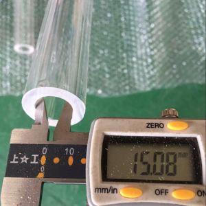 Entramba l'estremità apre il tubo libero del quarzo per la resistenza a temperatura elevata