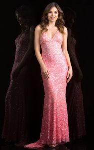 4414fb661b5 Розовый мини Платье вечернее платье пайетками Блестящие цветные лаки Prom  платье C48848