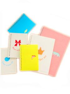 Novo design do notebook personalizado imprimindo PVC Notebook espiral do notebook