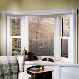 Ventana corrediza diseños con doble acristalamiento de ventanas de aluminio