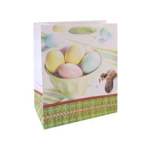 Пасхальный заяц праздник искусства бумажные мешки подарков с покрытием