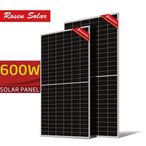 Longi media celda Solar Panel 182mm 380W 400W 450W 550W 580W 600W 9bb 10bb Perc en China Stock