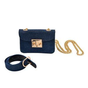 Cinto de couro PU Cadeia Saco Crossbody bag bolsa menina de lona (rs200603)