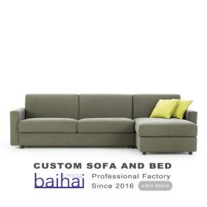 Tissu moderne canapé d'angle des chaises avec le stockage de l'hôtel lit canapé-lit