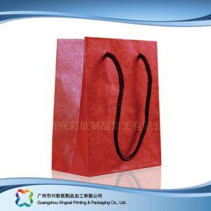 쇼핑 선물 옷 (XC-bgg-002)를 위한 인쇄된 종이 포장 운반대 부대