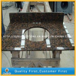 Préfabriqué brun de la Baltique en granit poli Vanity Tops pour salle de bains