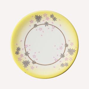 La mélamine Sushi plaque avec décoration colorée/100% de la mélamine vaisselle (QQA006B)