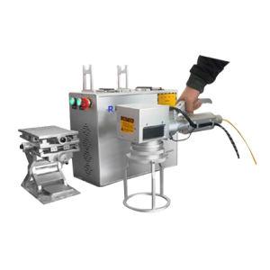 De handbediende Laser die van de Vezel Machine merkt