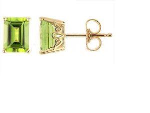 orecchino dell'oro giallo 10K con il diamante e la pietra preziosa (LEG1112)
