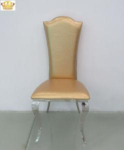 ホテルのためのThrone Chair現代食堂のステンレス鋼の革王