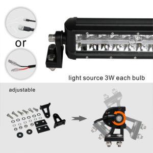 In het groot Black Straight 60W 12inch Automotive LED Light Bar met Emark Approval