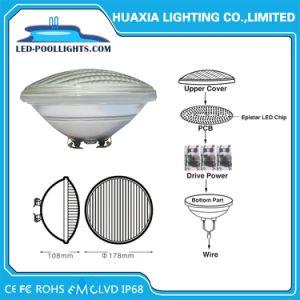 De vidrio grueso IP68 12W RGB LED PAR56 de la luz de la piscina 8W/12W/18W/24W/35W