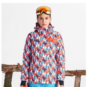 Traje de chaqueta de esquí Windproof piel gruesa de algodón caliente