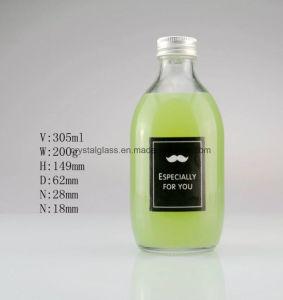 300ml 500ml garrafa de sumo de vidro com tampa de alumínio