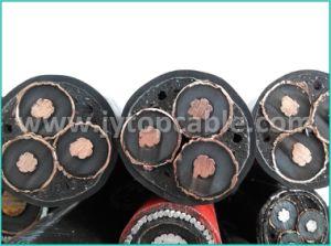 Tensão Alta18/30kv condutores de cobre Isolados em XLPE cabo de alimentação