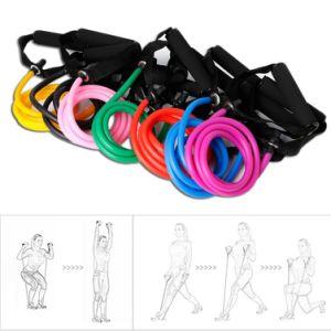 La banda de resistencia elástica de látex maneja perfecto para el tubo de Cuerda Gimnasio Pilates Yoga Gimnasio