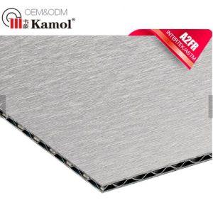 O OEM e revestimento de PVDF ODM de grau A2 4mm núcleo ondulado Fachada à prova de folha de composto de alumínio