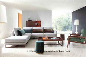 Вид в поперечном разрезе высокого качества диван ткань диван с массивной древесины в