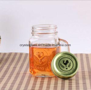 500ml la maggior parte della mascella di vetro quadrata popolare del muratore con le protezioni del metallo e della maniglia