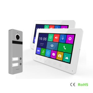 HD 2ボタンの相互通信方式のメモリホームセキュリティーのビデオDoorphone