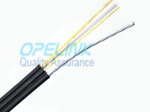 1/2/4core fibras monomodo de NUA G657A1 G657A2, membro da força de metal, FTTH Council Self-Supporting Bow-Type Tipo Trançadas Largar o cabo de fibra óptica Gjyxch/GJYXFCH