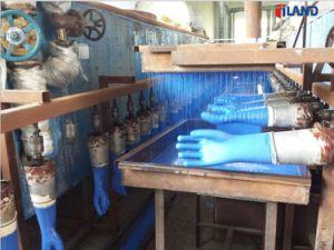 Lavoro industriale ricoperto PVC superiore di sicurezza del guanto di resistenza del prodotto chimico e dell'alcali della nervatura & guanti Labor