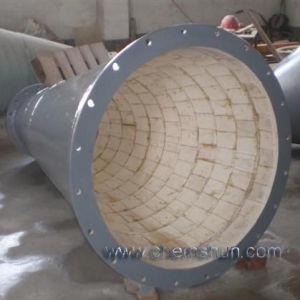 Alumina de Ceramische Gevoerde Pijp van de Steenkool voor de Weerstand van de Slijtage