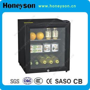 Mini réfrigérateur d'étalage de porte transparente pour l'hôtel