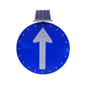 China alimentada a energia solar Sinais LED avisos de segurança de cuidado Solar