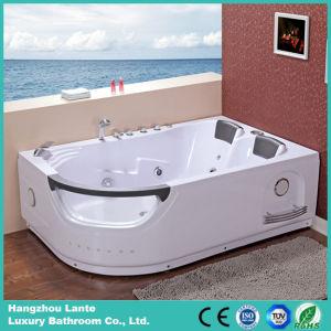 Doble persona masaje de acrílico bañera de hidromasaje con almohada (TLP-665)