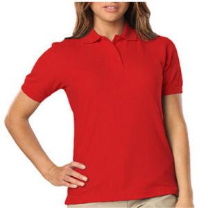 800053f78f669 Alta de algodão uniforme da escola camisa Polo   camisa Polo Escolar ...