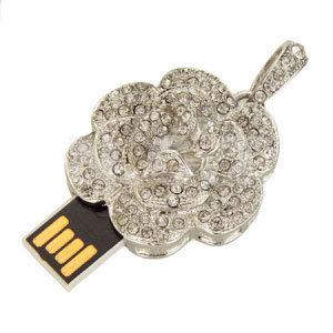 宝石類のネックレスのローズUSBのフラッシュ駆動機構のPendriveのフラッシュ・メモリの棒