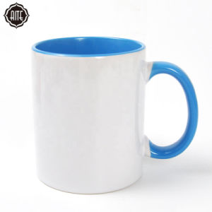 La promoción de la familia de impresión personalizadas de porcelana de color blanco de taza de café de sublimación tazas de cerámica en blanco