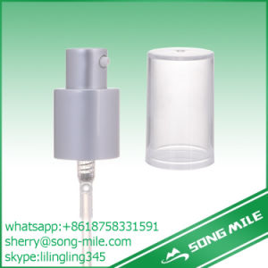 bomba de alumínio da loção do metal da prata do petróleo do distribuidor do creme do plástico de 24mm