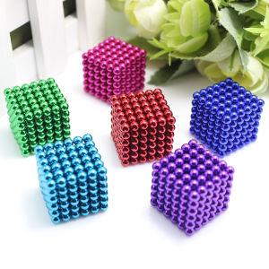 Neo magnética del cubo 5mm 216 Paquete de Caja de hierro magnético imán Neodym Ball