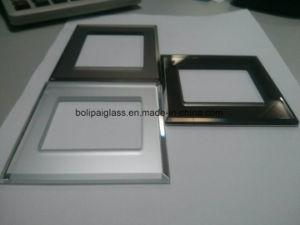 3&4 mm bordes biselados Bornze Espejo Panel de interruptores de vidrio esmerilado
