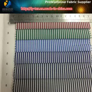 普及したT/Cの女性の偶然のワイシャツのためのヤーンによって染められる縞によって編まれる織布