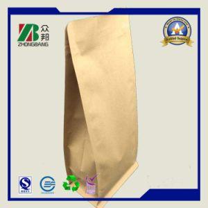 Ziplockが付いているクラフト紙の包装袋を立てなさい