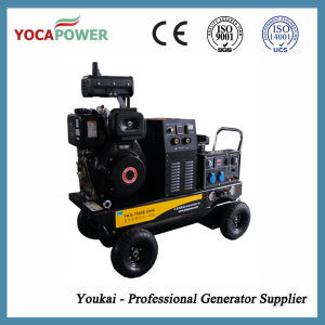 De krachtige Diesel 186 Generator van de Lasser met de Compressor van de Lucht