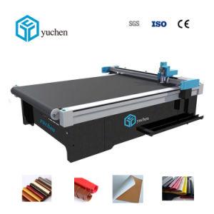 Yuchen Couro CNC máquina de corte de têxteis para roupa/Calçados bolsas/Superior/Correia fazendo com cortador de vibração