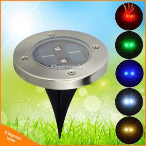 2 licht-LED begrabene Lampen-Solargarten-Rasen-Licht-angeschaltene Tiefbausolarlichter LED-im Freien RGB Solarboden