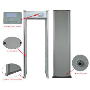 Alarme de Segurança metálicas de instruções do portão de entrada de inspeção do Detector de Metais