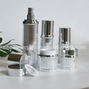 Glossy Silver Acrylic Cream Gravel bank Lotion Bottle for Cosmetics (PPC-NEW-100)