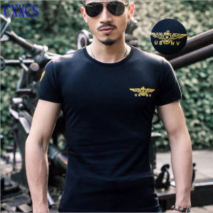Novo design do T-shirt militar respirável e T-shirt Militar