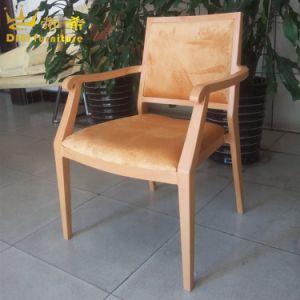 Armrestが付いているホテルの宴会の椅子をスタックするレストランの家具