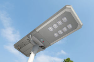 LED de energía solar Alumbrado Público. La energía renovable. Las luces de energía sostenible
