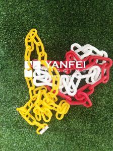 Las cadenas de recubrimiento de plástico rojo duradera para el tráfico