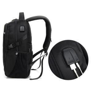 Antirrobo de seguridad Bookbags reflectante Mochila para portátil USB con conector de auriculares